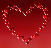 Coração formado com corações pequenos Foto de Stock