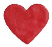 Coração, formado da argila vermelha Fotografia de Stock