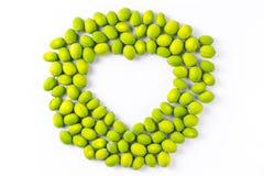 Coração fresco da semente dos lótus dado forma Imagem de Stock