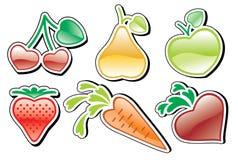 Coração-frutas Fotografia de Stock Royalty Free