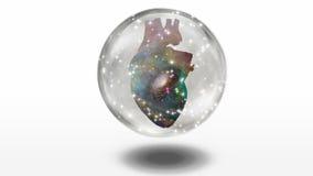 Coração galáctico Foto de Stock Royalty Free