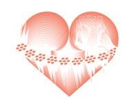 Coração gelado Imagens de Stock