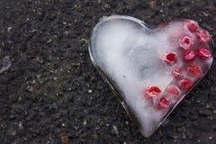 Coração gelado com bagas Foto de Stock Royalty Free