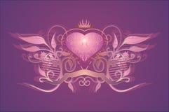 Coração glamoroso Imagens de Stock