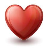 Coração Glassy Imagens de Stock Royalty Free