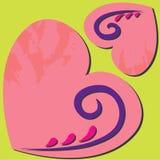 Coração grande com coração pequeno Fotografia de Stock