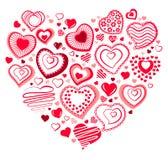 Coração grande feito dos pequenos Fotografia de Stock