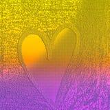 Coração gravado no fundo pastel da areia Fundo de dois tons com tema estruturado ilustração royalty free
