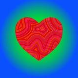 Coração Groovy Fotos de Stock