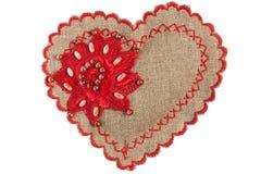 Coração Handmade Fotos de Stock