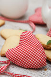 Coração Handmade com biscoitos Foto de Stock