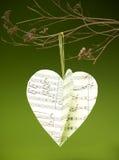 Coração handmade musical Fotos de Stock Royalty Free