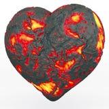 Coração impetuoso da lava ilustração do vetor