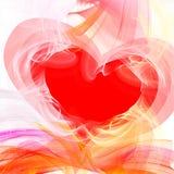 Coração incendiado Fotografia de Stock