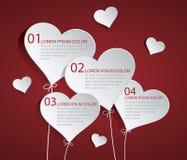 Coração Infographic Fotos de Stock