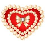 Coração isolado no fundo branco Imagens de Stock Royalty Free