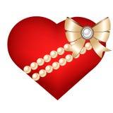 Coração isolado no fundo branco Fotografia de Stock Royalty Free