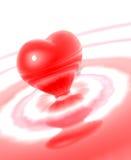 Coração líquido isolado Imagem de Stock