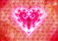 Coração luminoso ilustração stock