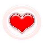 Coração lustroso vermelho ilustração do vetor
