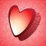 Coração lustroso vermelho Imagens de Stock