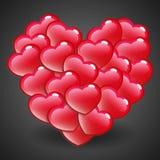 Coração lustroso vermelho Imagens de Stock Royalty Free