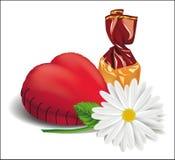 Coração macio para casamentos e dia de Valentim Projeto Imagens de Stock Royalty Free