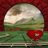 Coração-maquinismo de relojoaria ilustração royalty free