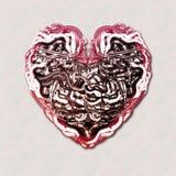 Coração mecânico com cérebro Imagem de Stock Royalty Free