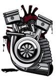 Coração mecânico   Ilustrador que dinking + coloração ilustração stock