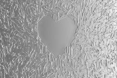 Coração metálico Foto de Stock Royalty Free