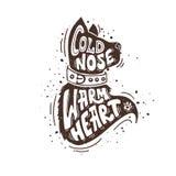 Coração morno do nariz frio ilustração stock