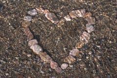 Coração na água Foto de Stock Royalty Free