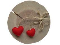 Coração na árvore foto de stock
