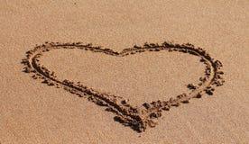 Coração na areia Imagem de Stock Royalty Free