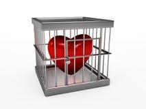 Coração na cadeia Imagem de Stock Royalty Free