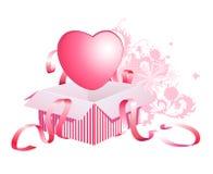 Coração na caixa Fotografia de Stock