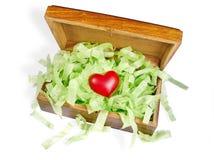Coração na caixa Fotos de Stock Royalty Free