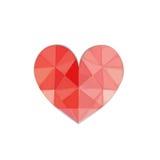 Coração na central ilustração do vetor