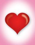 coração na cor-de-rosa Imagens de Stock