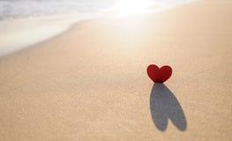 Coração na costa 3 Foto de Stock