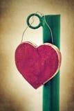 Coração na estrada Fotografia de Stock Royalty Free