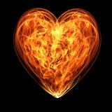 Coração na flama Imagem de Stock