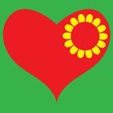 Coração na flor Fotos de Stock Royalty Free