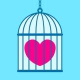 Coração na gaiola ilustração stock