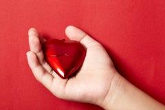 Coração na mão Foto de Stock