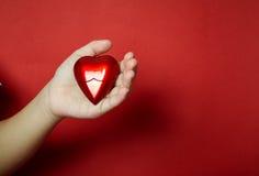 Coração na mão Imagem de Stock