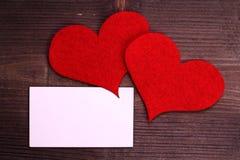 Coração na madeira Foto de Stock Royalty Free