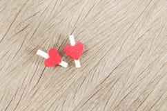 Coração na madeira Fotos de Stock Royalty Free