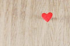 Coração na madeira Imagem de Stock Royalty Free